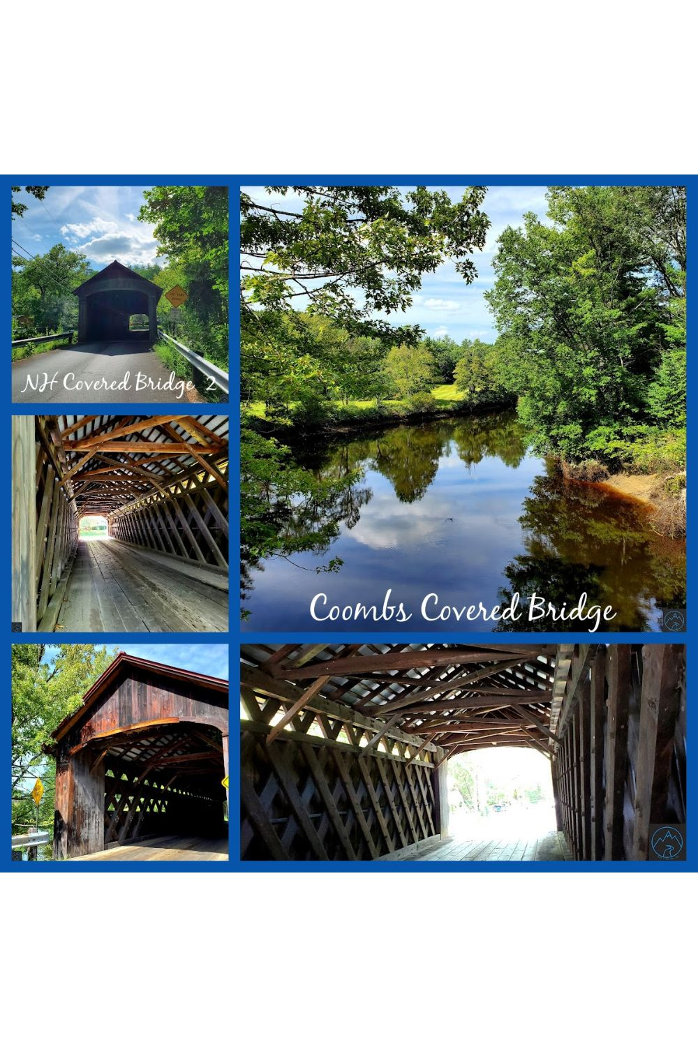 Beautiful Coombs Covered Bridge in NH